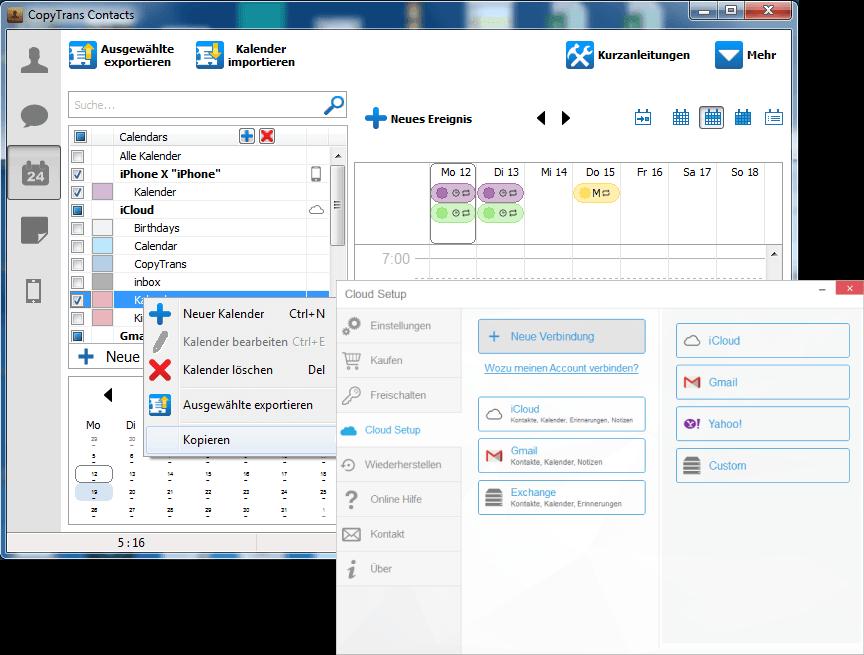 iPhone Kalender verwalten