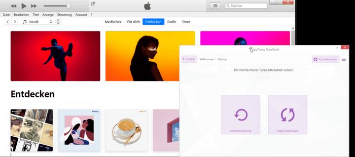iTunes-Backup mit CopyTrans TuneSwift