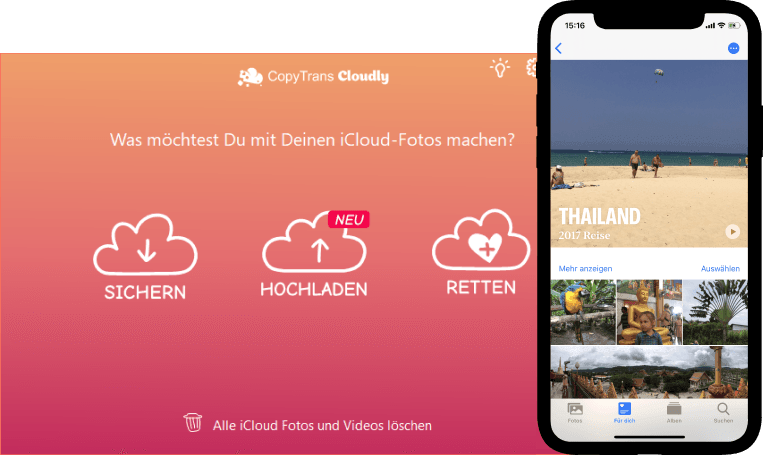 CopyTrans Cloudly Interface