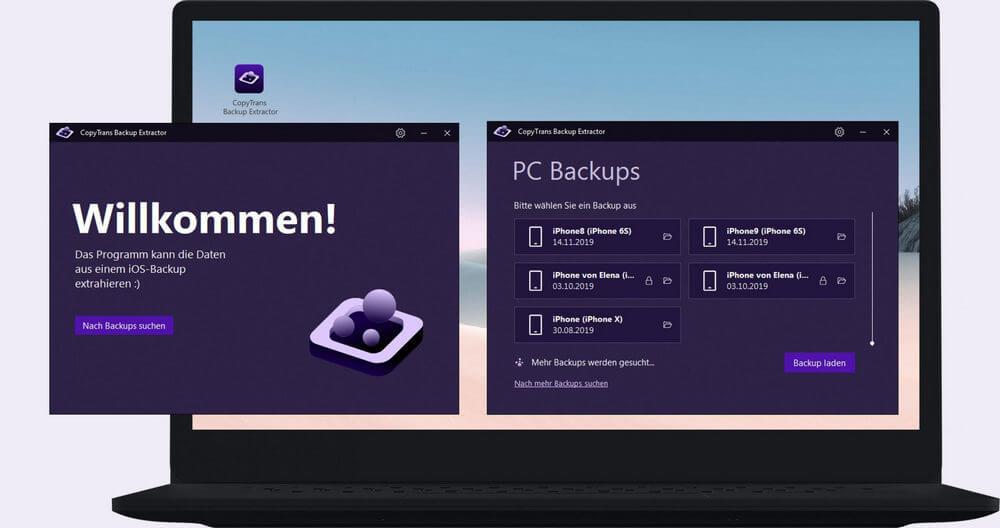 CopyTrans Backup Extractor auf PC
