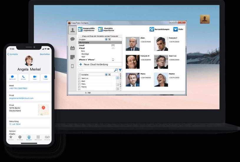 CopyTrans Contacts auf PC