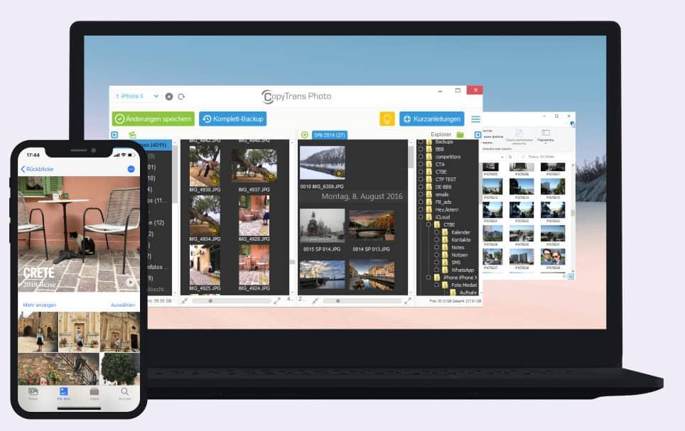 CopyTrans Photo auf dem PC