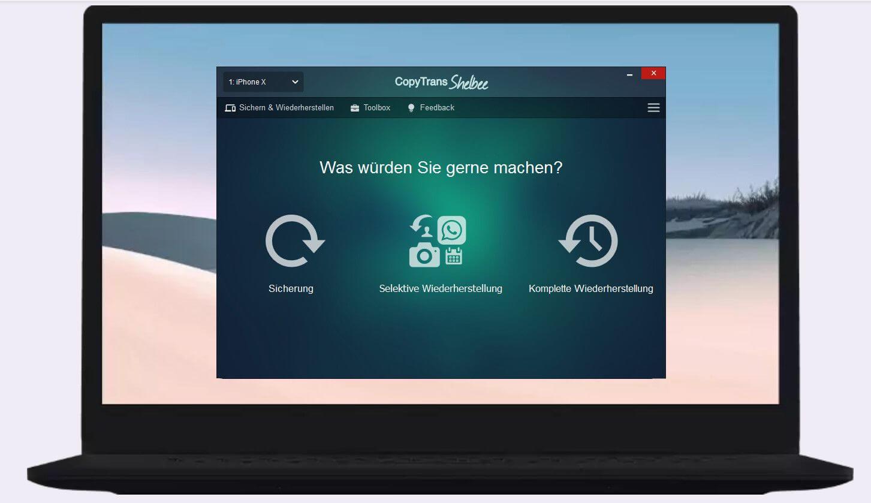 CopyTrans Shelbee auf PC