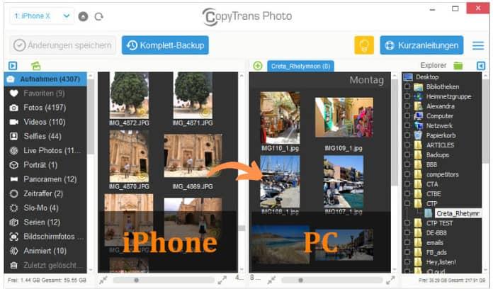 iPhone Fotos am PC sichern