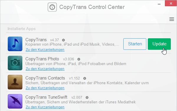 iOS Datenverwaltung