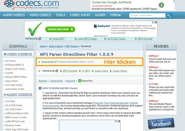 Download MP3 Parser Filter