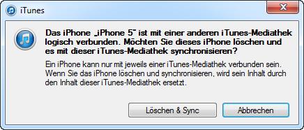 iTunes löschen und synchronisieren