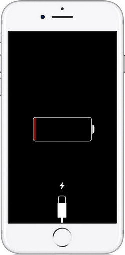 iPhone eingefroren - an Stromquelle anschließen