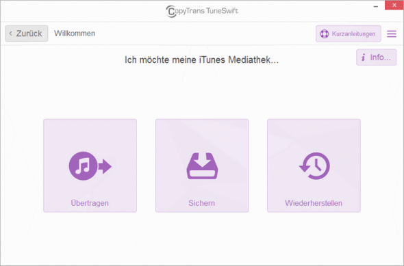Copytrans TuneSwift Start