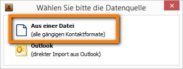Kontakte aus Datei importieren