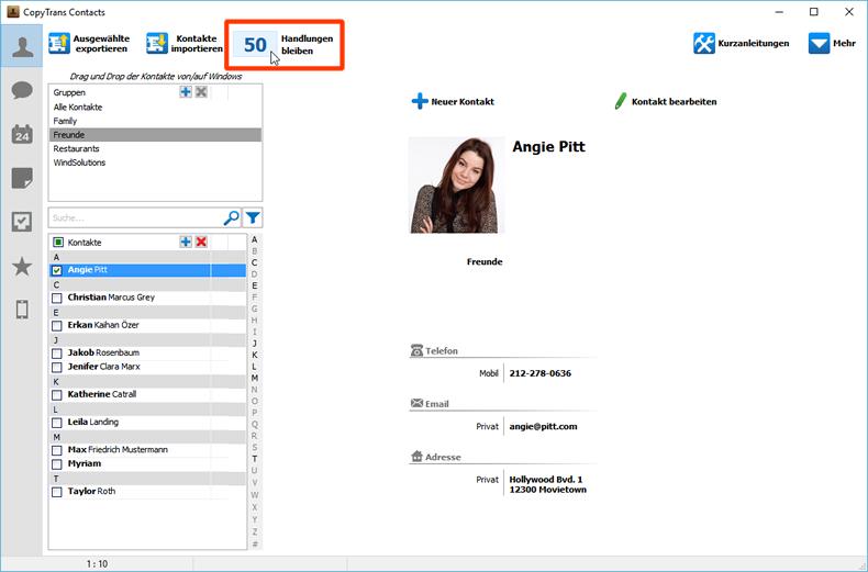 copytrans contacts probeversion