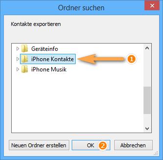 iphone Kontakte für Windows exportieren