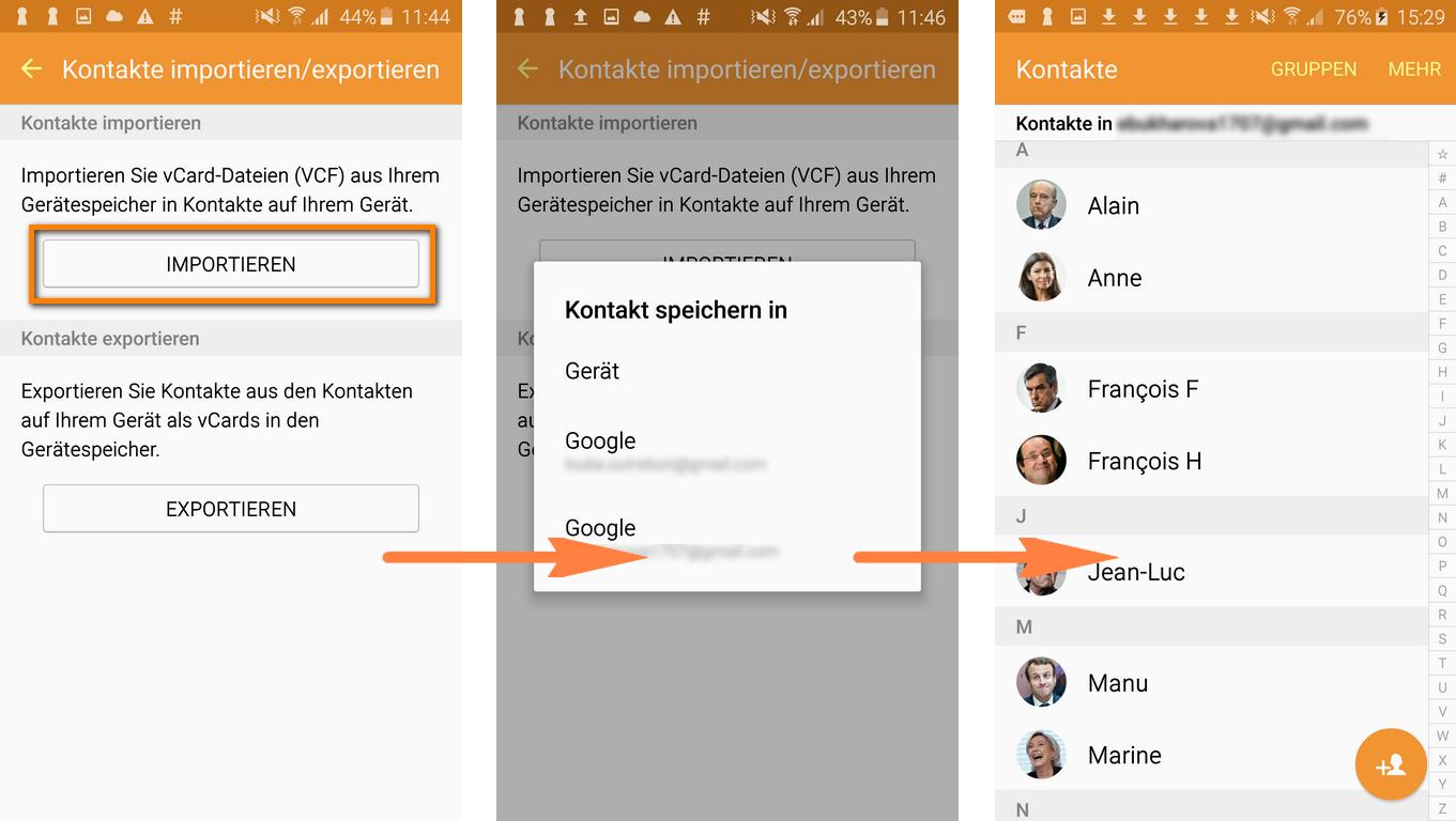 iPhone Daten auf Android importieren