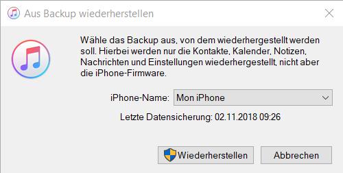 iPhone Kontakte aus Backup extrahieren