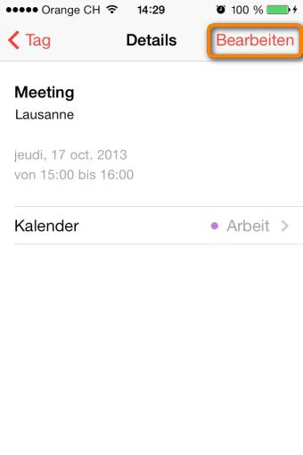 kalender am iphone bearbeiten