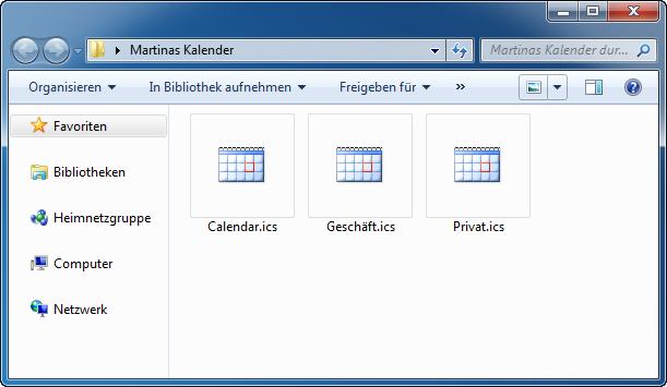iPhone Kalendertermine speichern PC