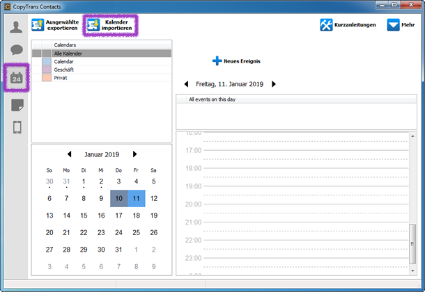 ICS Datei in iPhone Kalender importieren