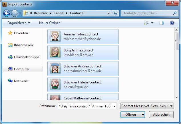Windows Adressbuch auf iPhone kopieren