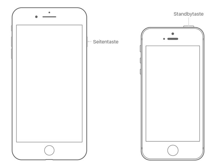 iPhone 7, iPhone 6 und älter ausschalten