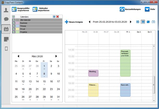 So sind Ihre iPhone Kalender übertragen