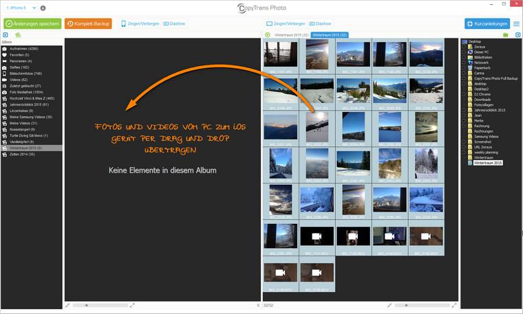 Bilder vom PC auf iPhone übertragen