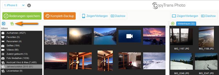 Fotoalben im CopyTrans Photo erstellen