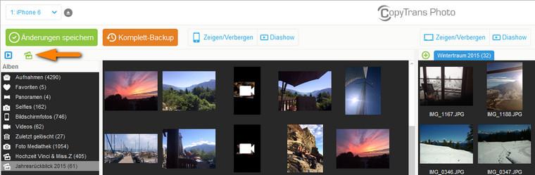 Fotoalbum am iPhone erstellen