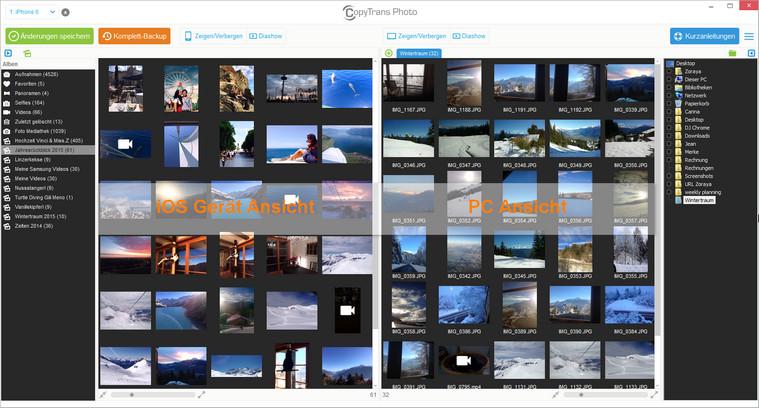 CopyTrans Photo Übersicht