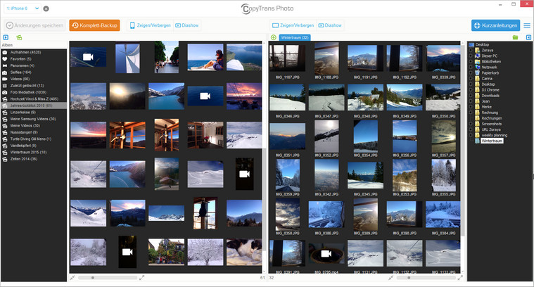 Bilder werden von CopyTrans Photo hochgeladen