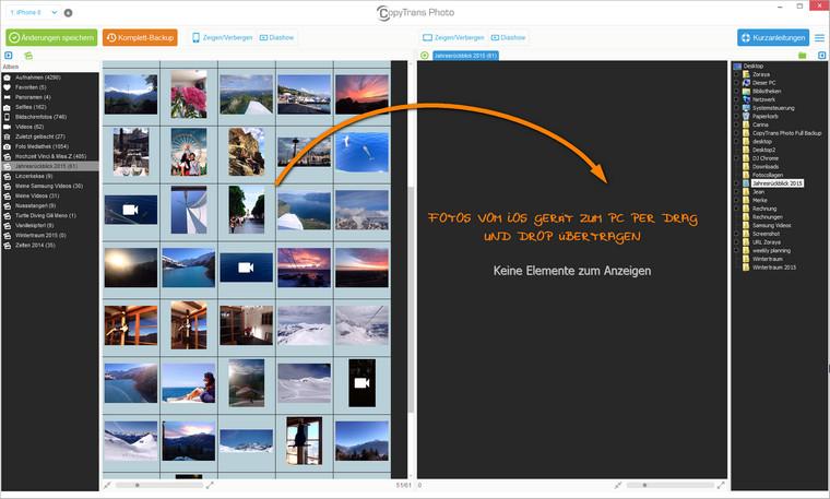 Bilder vom iPhone auf PC übertragen