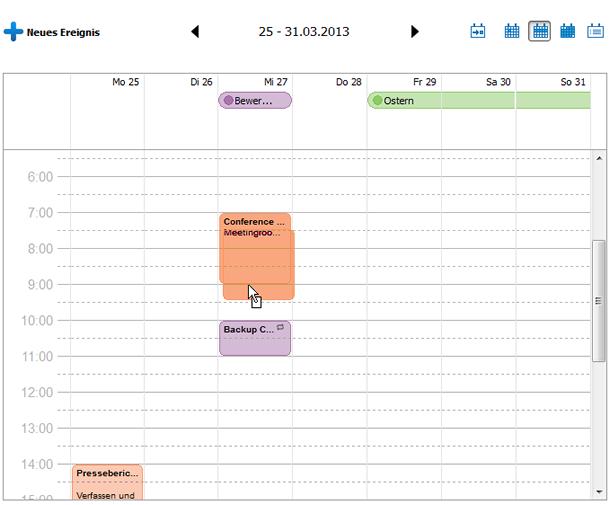 Kalenderereignis verschieben