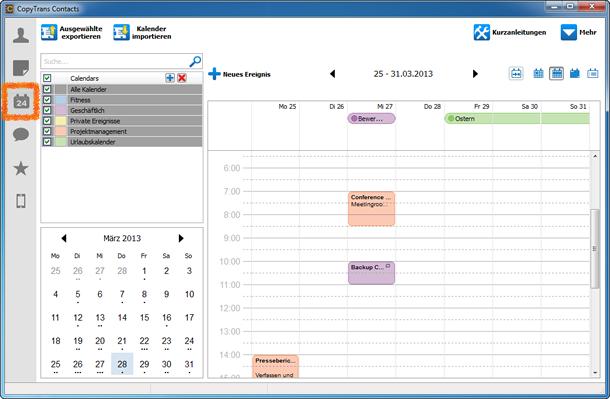 iPhone Kalender über PC