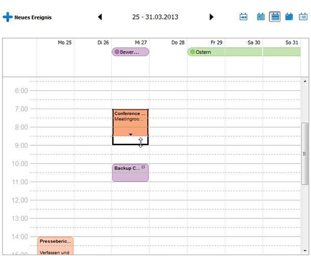 iPhone Kalendertermin verlängern