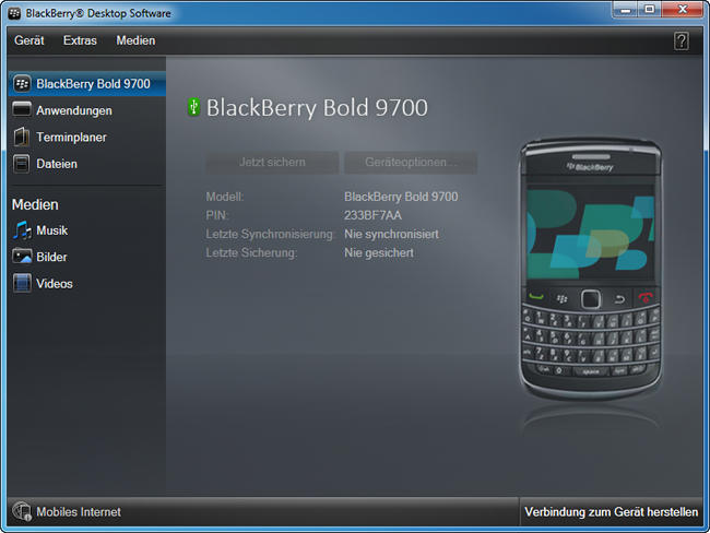 BlackBerry Datensicherung