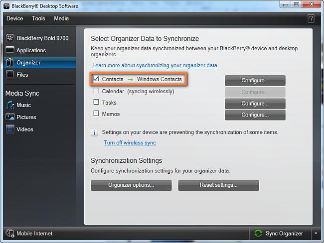 BlackBerry Kontakte auf PC übertragen