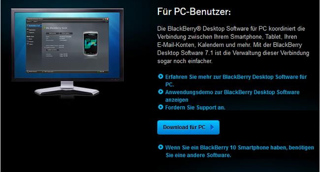 download blackberry desktop software