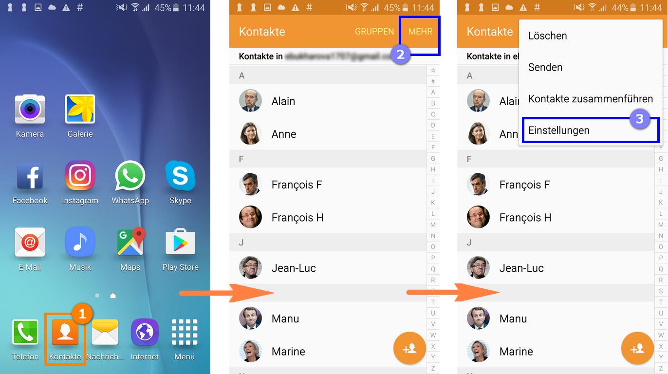 Kontakte von Android auf iOS übertragen