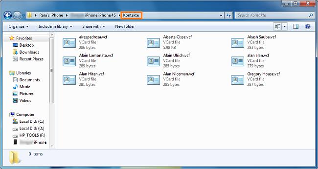 iphone kontakte auf dem rechner