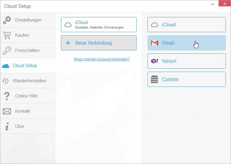 gmail cloud verbindung