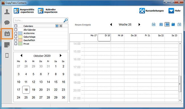 Kalender-Symbol auswählen