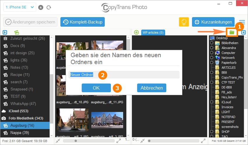 Bilder von Handy auf PC übertragen