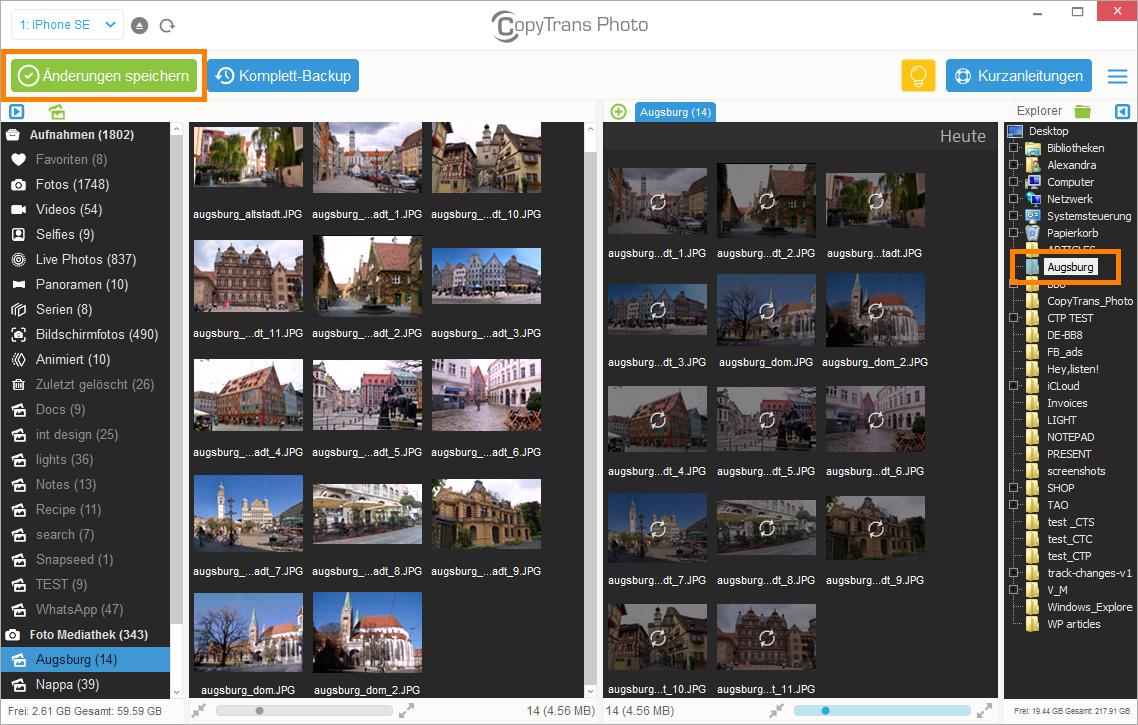 Fotos vom Smartphone auf PC kopieren