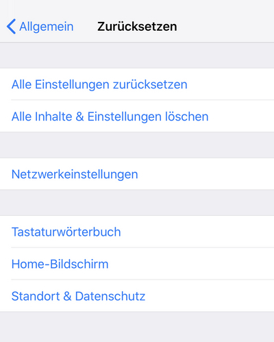 iPhone manuell zurücksetzen und diesem Computer vertrauen rückgängig machen