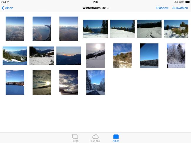 Bilder vom PC auf iPad Air