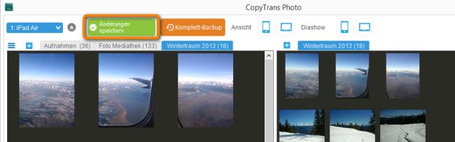 Bilder vom PC auf iPad Air bestaetigen