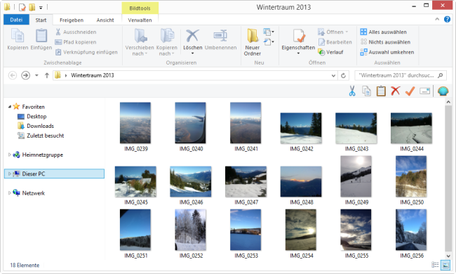 iPad Air Bilder PC Ansicht