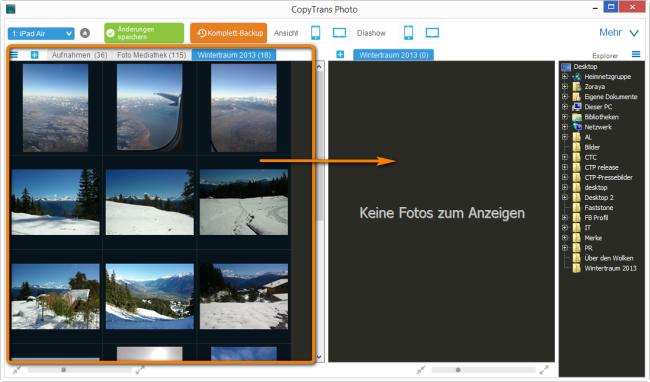 iPad Air Bilder auf dem PC übertragen