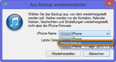 Iphone Kontakte Aus Backup Wiederherstellen