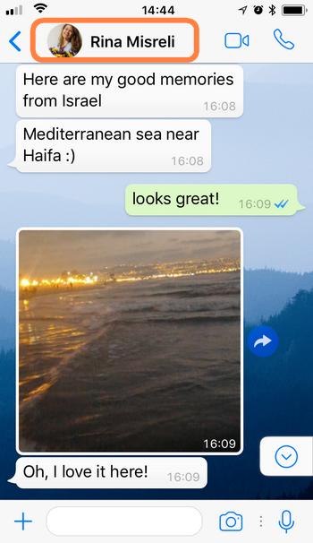 WhatsApp Chat sich selbst zuschicken