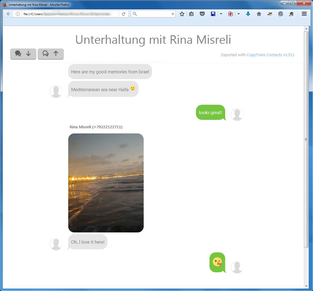 WhatsApp als HTML-Datei am PC lesen
